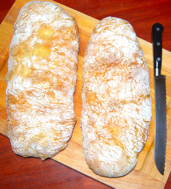 Quick and easy recipe for Ciabatta bread. Vegan.