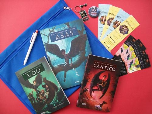 Trilogia Asas/Voo/Cântico da Farol Literários + Mimos
