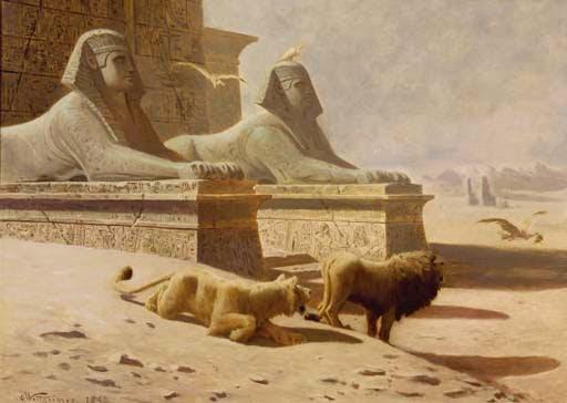 מצרים בשממונה - גוסטב ורטהיימר 1893