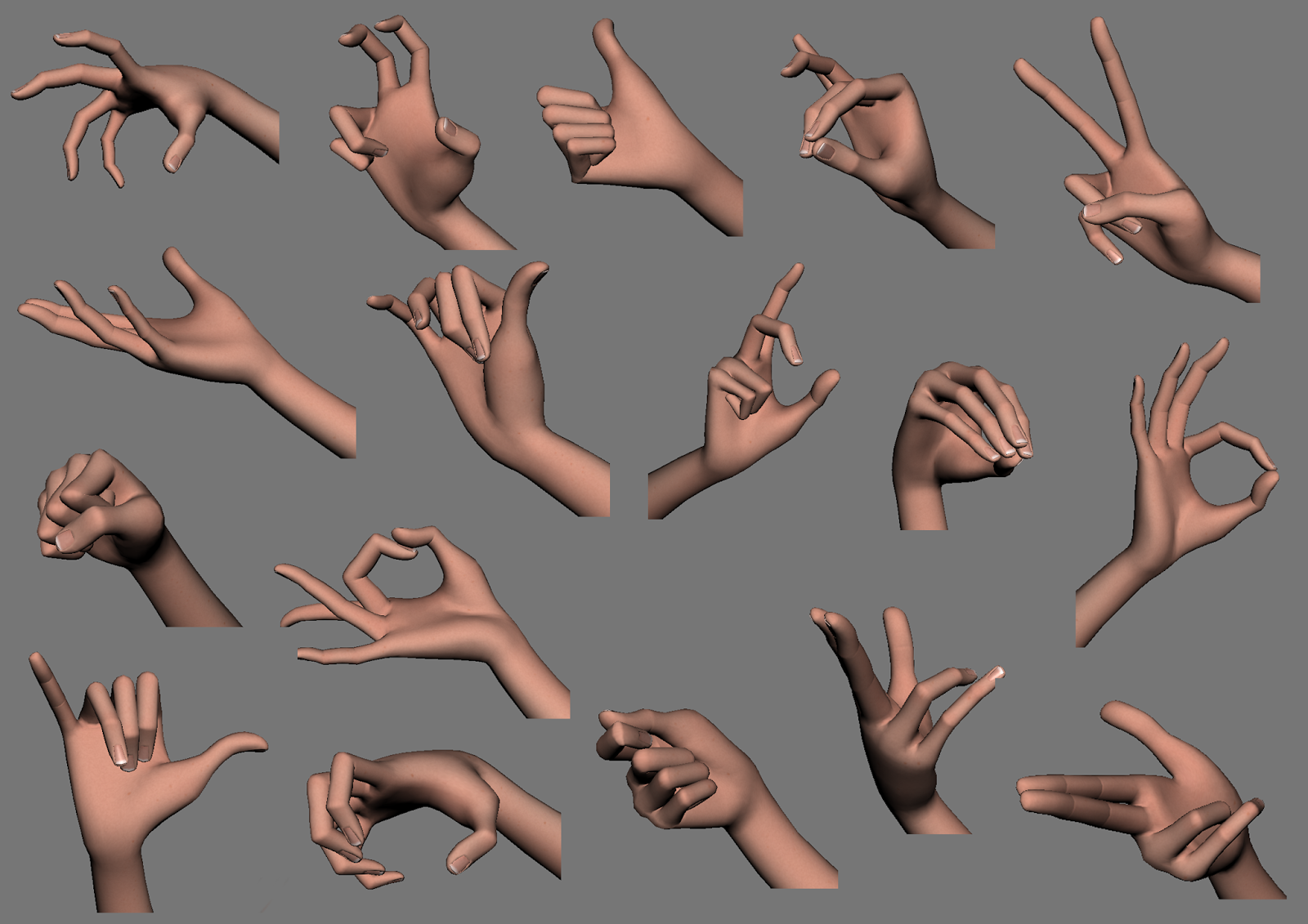 The Road to My True Passion for ART: Hand poses practice