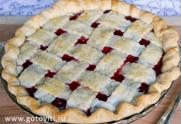 Пирог с вишней песочное тесто рецепт пошагово