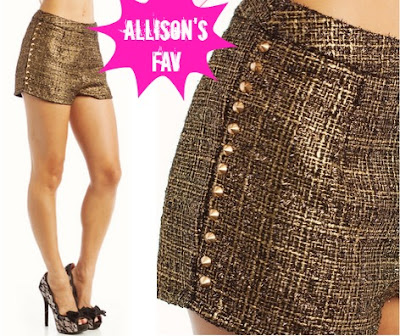 Spiked Tweed Shorts