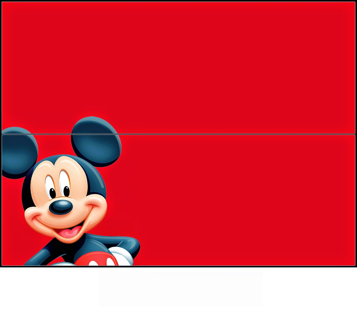 Mickey: Free Printable Candy Bag Label.