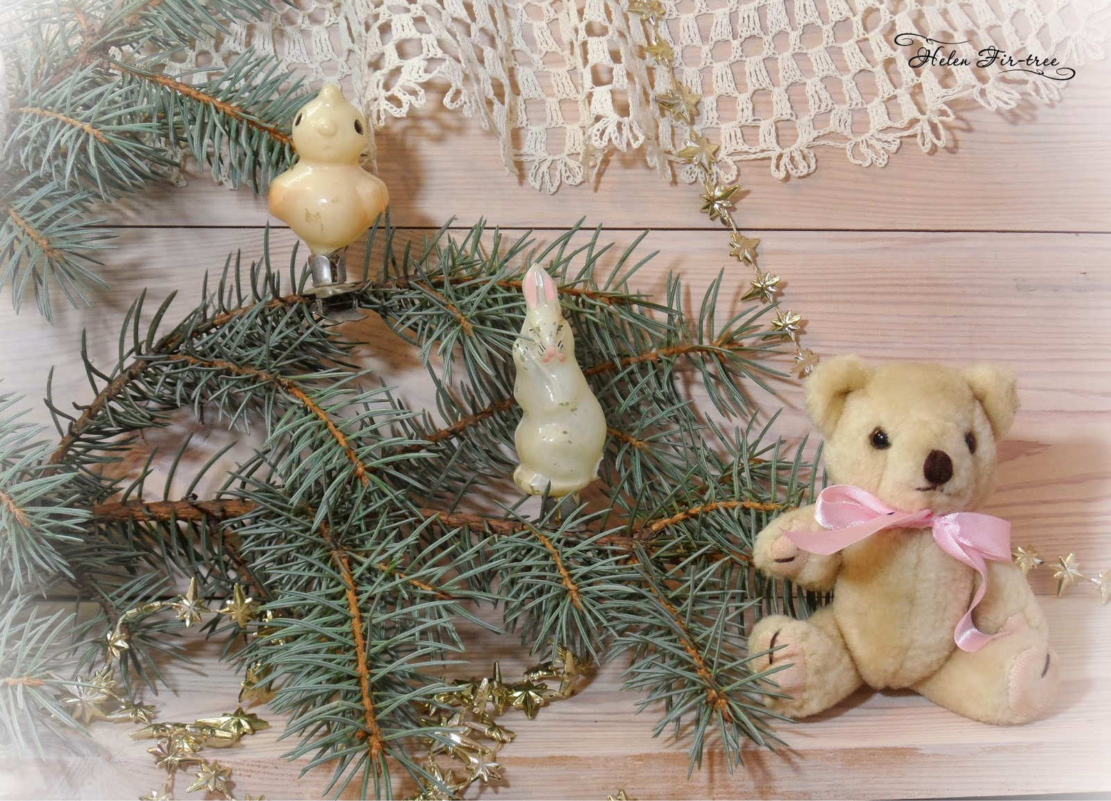 Helen Fir-tree винтажные ёлочные украшения Vintage Christmas decorations