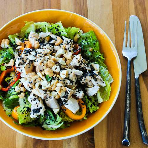 Leftover Chicken Asian Chopped Salad