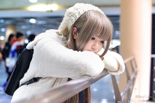 Cute Girl In Wight Dress