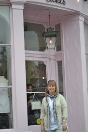 Myself outside Peggys cupcake parlour,beautifull store and yummy cupcakes too,