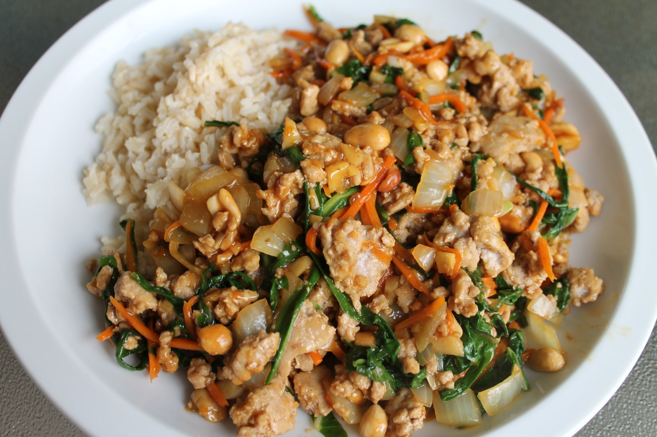 Cook In / Dine Out: Orange Pork Stir Fry with Ginger and Chard