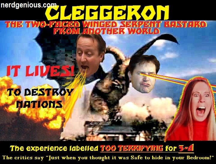 David Cameron and Nick Clegg hilarious political satire picture