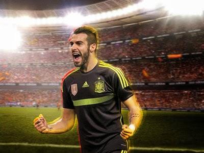 segunda camiseta de la Selección Española de Fútbol Mundial de Brasil 2014