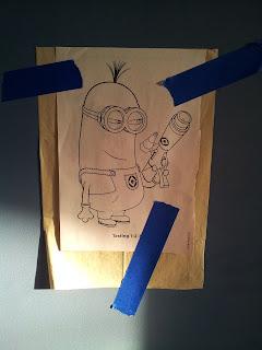 Chalkboard Art Minions transfer paper