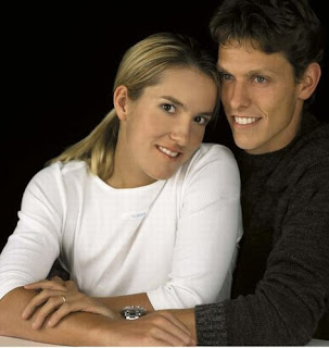 Justine Henin with Husband