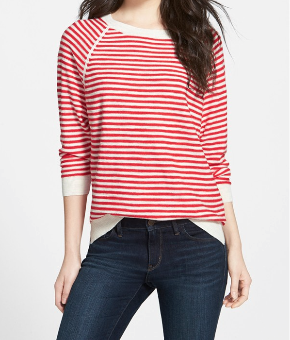 Weekend Steals & Deals | Stripe Raglan Sweater