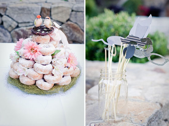 Homemade Wedding Cake Was Made From Doughnuts While