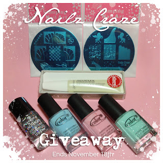 Nailz Craze nail polish stamping plates giveaway october