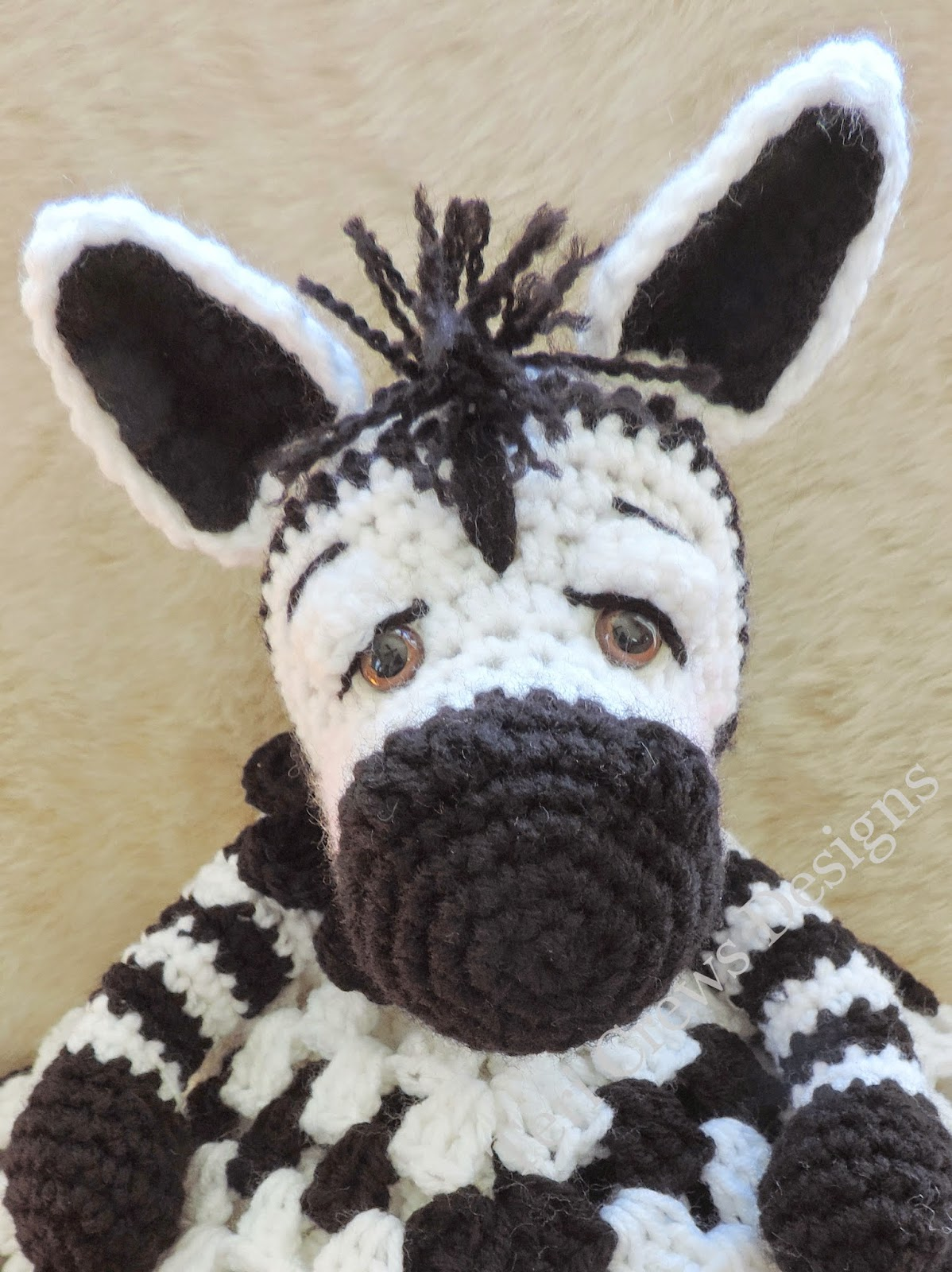 Crochet Zebra Blanket : ... crochet stitches you will need to know how to crochet in the round