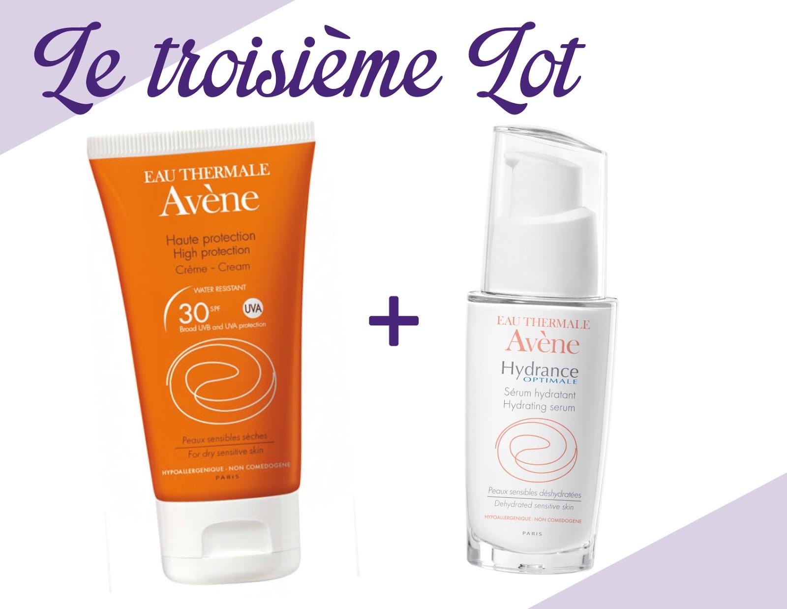 crème teintée visage SPF 30 et sérum Hydrance Optimale.