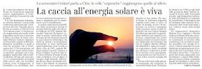 La caccia all'energia solare è viva.