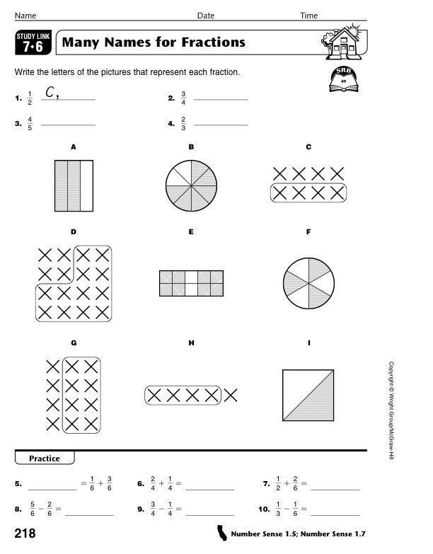 math worksheet : homework 2012 2013 march 5th  fractions worksheets : Mm Fractions Worksheet