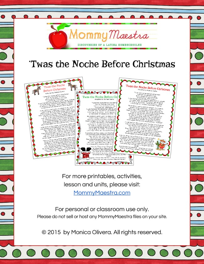 It is a picture of Sly Twas the Night Before Christmas Printable