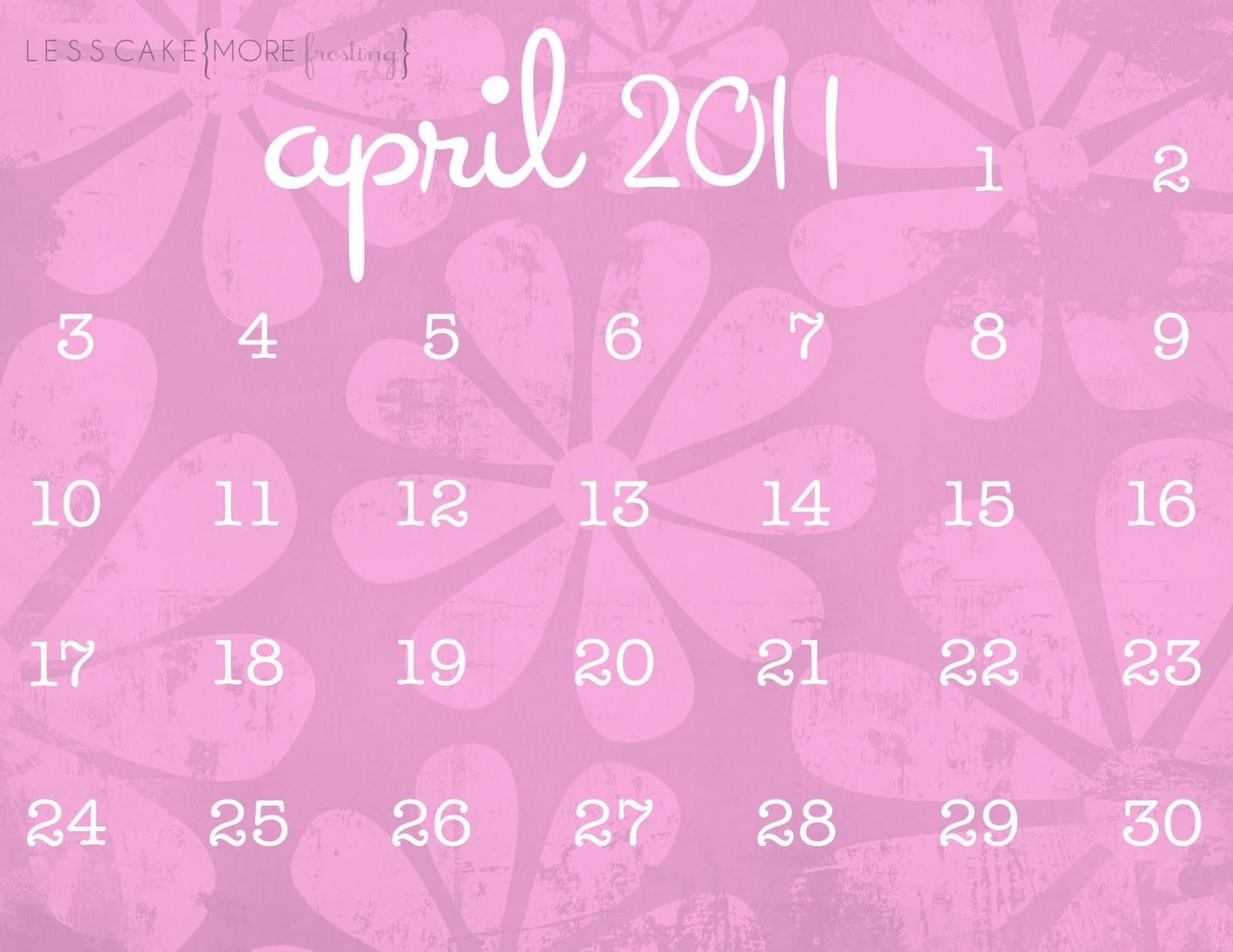 Calendar Craze April : April calendar easter