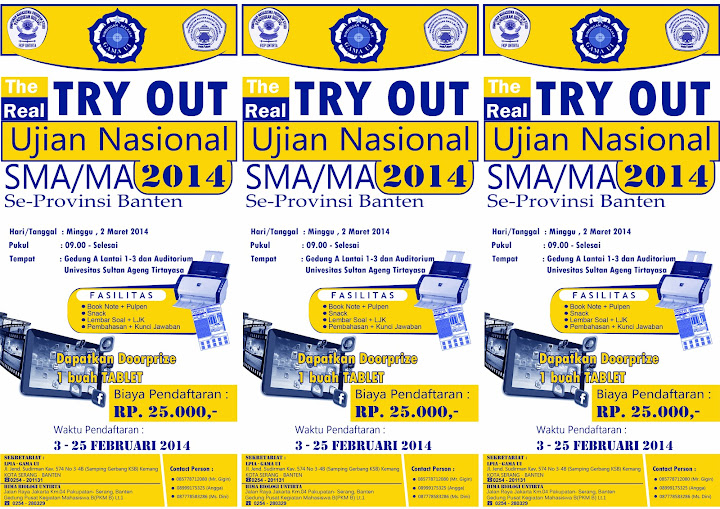 FLAYER  Try Out Ujian Nasional SMA MA 2014 White