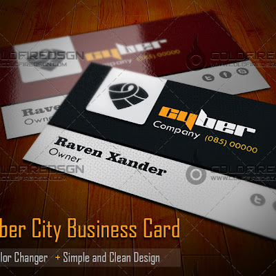 Cyber City Business Card Template