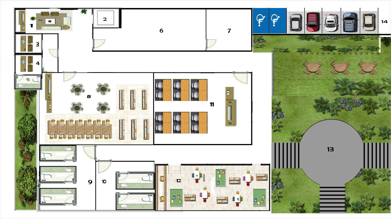 Centro de Cultura & Arte do Cariri: Planta #0A6CB3 1366 768