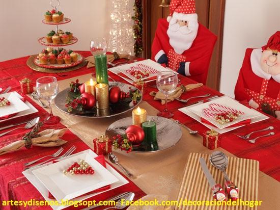 Como decorar mesas para navidad decoraci n del hogar - Como hacer decoracion navidena para el hogar ...