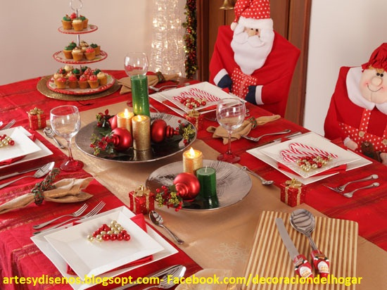 Como decorar mesas para navidad decoraci n del hogar - Adornos navidenos para mesas ...