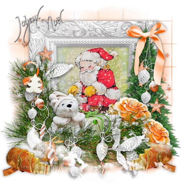 Pere Noel Avec Animaux Avec Père Noël et Animaux