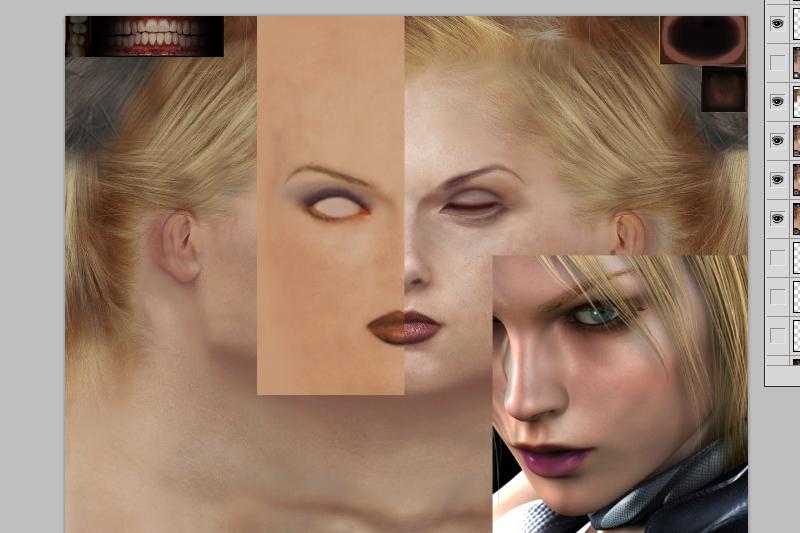 Nina Tekken CG texture CGI