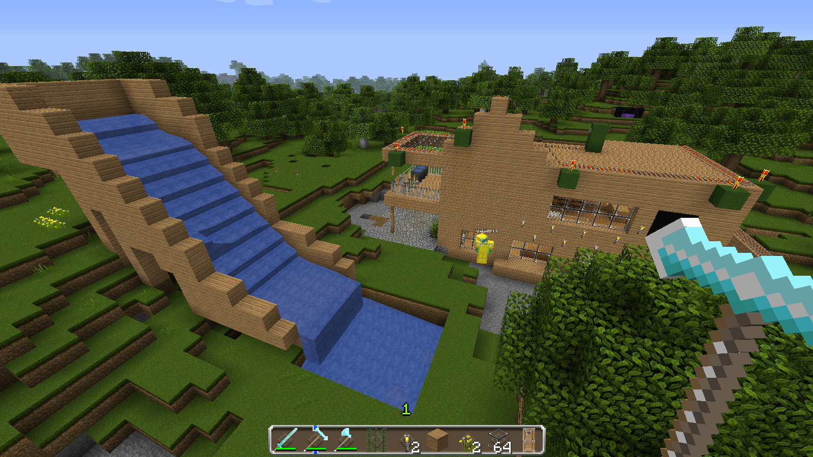 how to build a llama shelter in minecraft