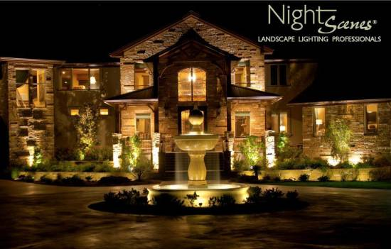 Fresh decor exotic residential landscape with great for Residential exterior lighting design