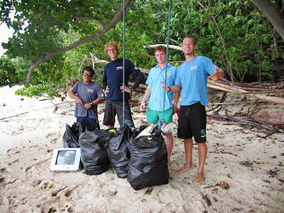 Beach clean up in National Marine Park 'Ang Thong'