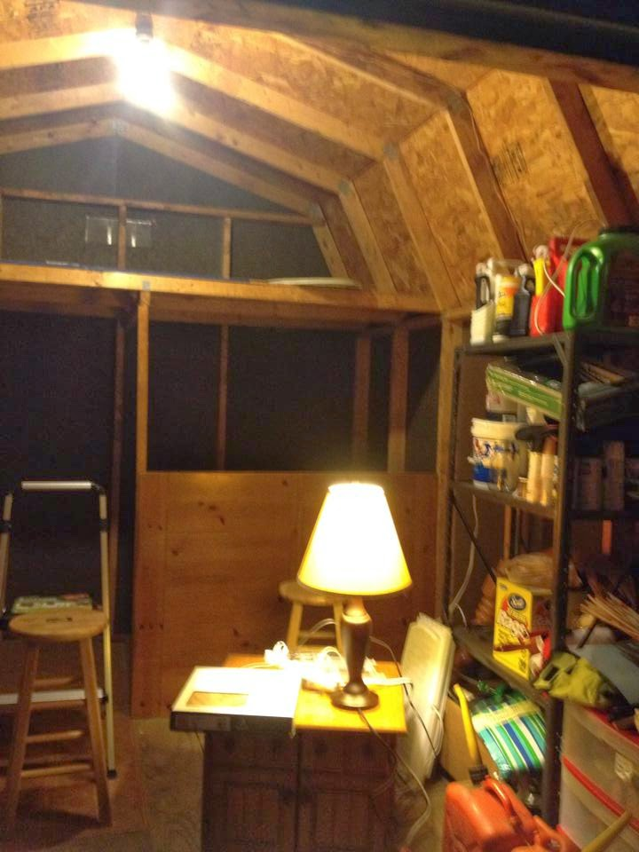 the barshed: shed into bar- adding light