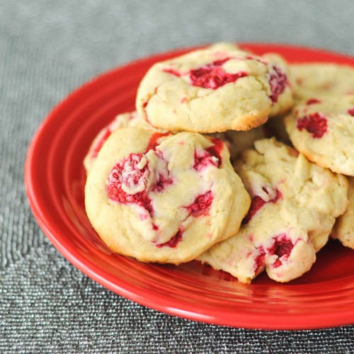 Raspberry Lemon Cheesecake Cookies Recipe