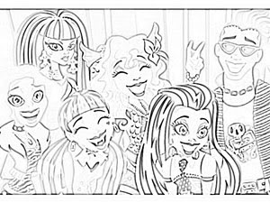 Monster High Para Colorear  2   Parte