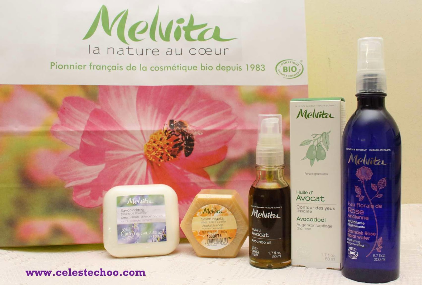 melvita-organic-French-skincare-brand-soap-floral-water-oil