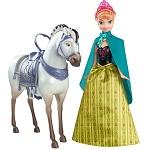 Boneca Disney Frozen Personagem Princesa Anna com Cavalo