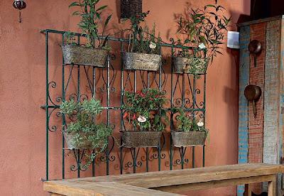jardim vertical, reciclagem, grade antiga