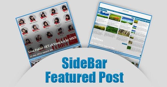 blogger feature post gadget sidebar