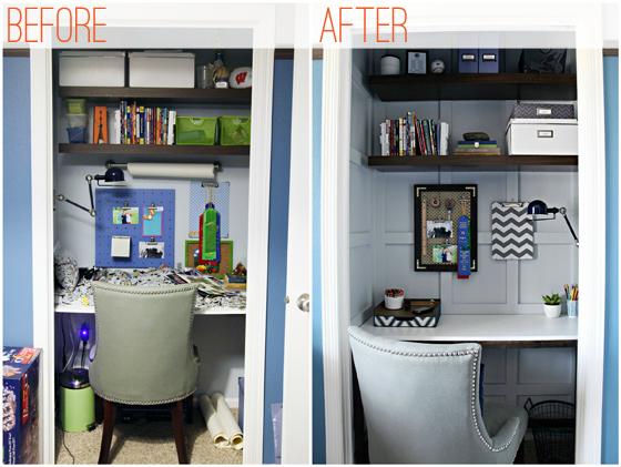 office in a closet. Diy Closet Office. Office M In A O