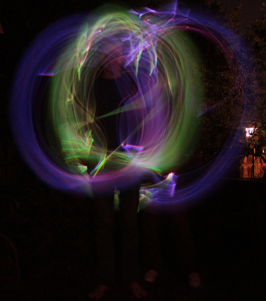circles light painting photography