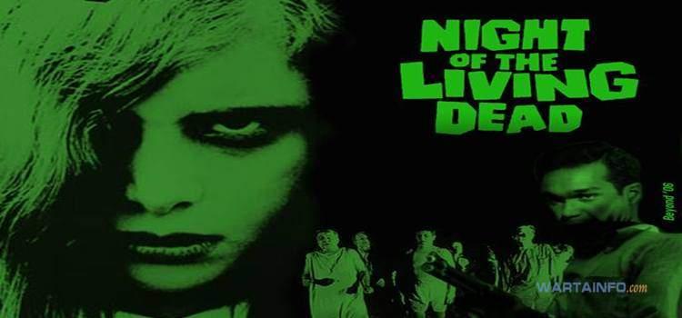 poster Night of the Living Dead (1968) Film Horor terseram terbaik paling menegangkan Sepanjang Masa