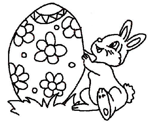 Desenhos De Coelhos   Ovos De P  Scoa Para Colorir