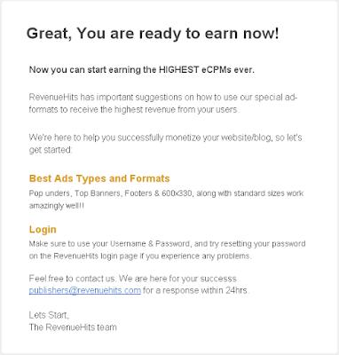 RevenueHits المنافس القوي لجوجل أدسنس ربح دولار شخص دعوته