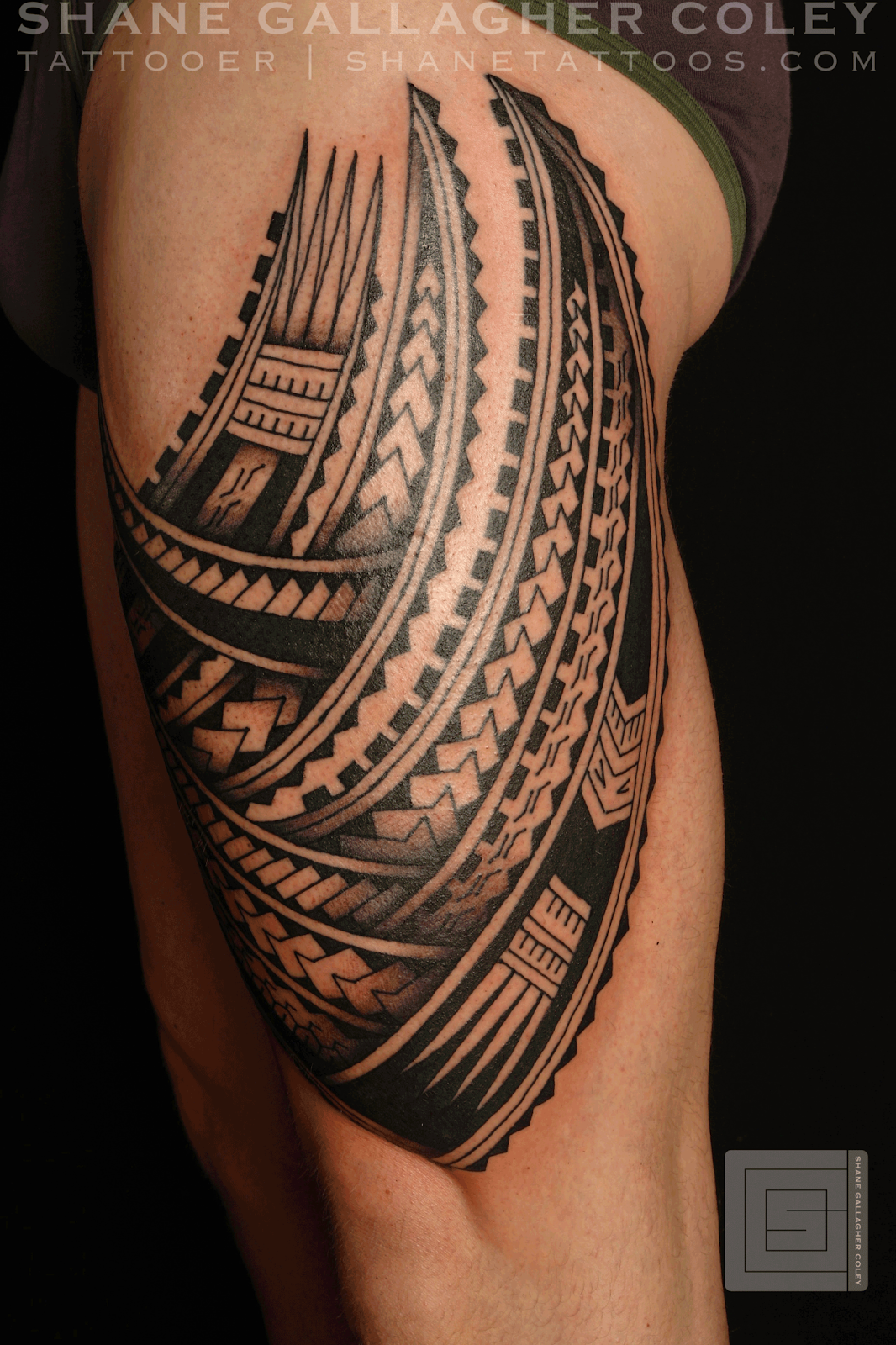 shane tattoos polynesian thigh tatau tattoo ForPolynesian Thigh Tattoo