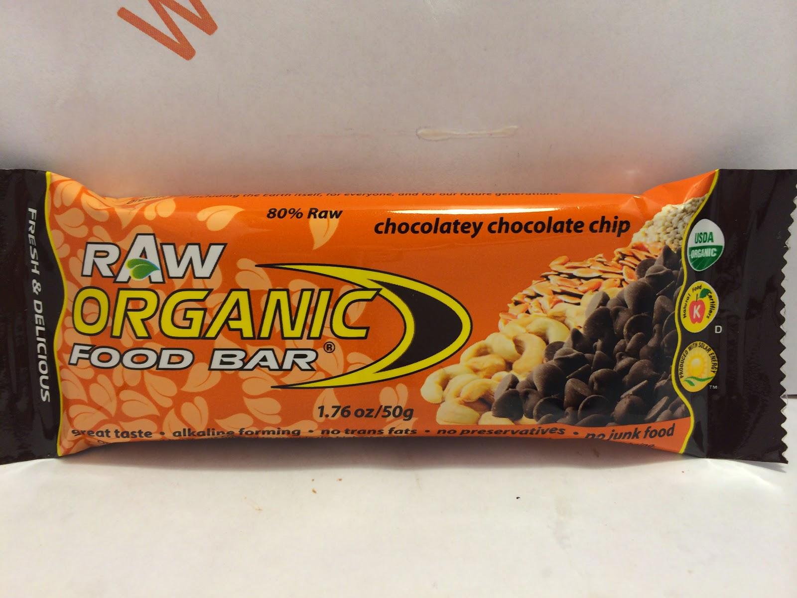 Crazy Food Dude Review Raw Organic Chocolate Chocolate Chip Food Bar