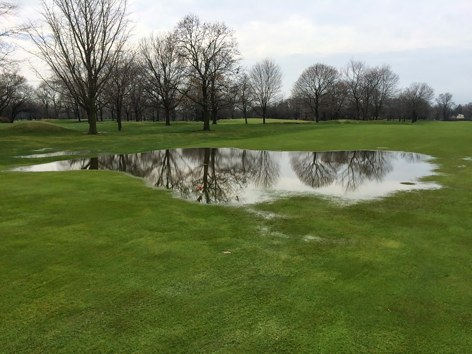 First storm of 2015 park ridge country club turfgrass for Park ridge